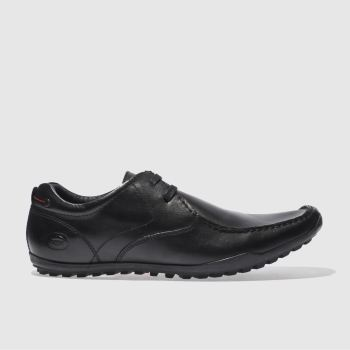 Mens Base London Black Armour Asymmetric Shoes