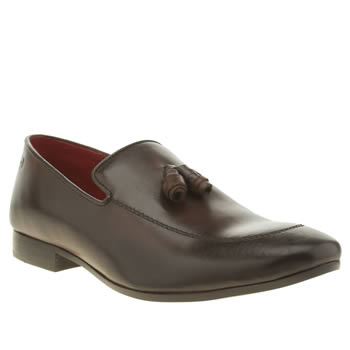 Mens Base London Dark Brown Author Loafer Shoes