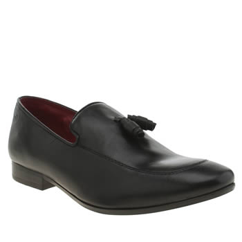 Base London Black Author Loafer Shoes
