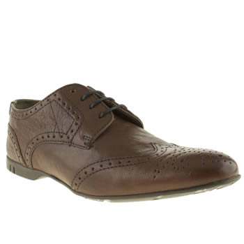 mens base london brown dynamic brogue shoes