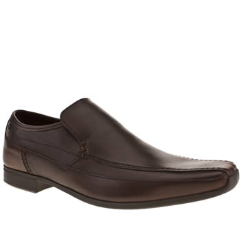 mens base london dark brown flip loafer shoes