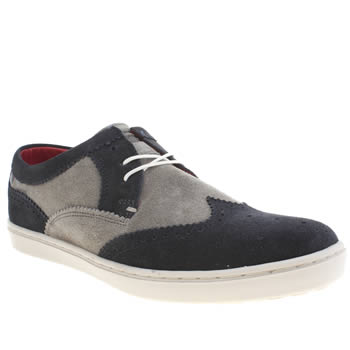 Base London Navy & Grey Base National Cup Shoes