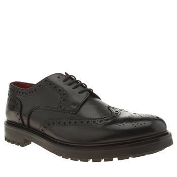 Base London Black Industrial Brogue Shoes
