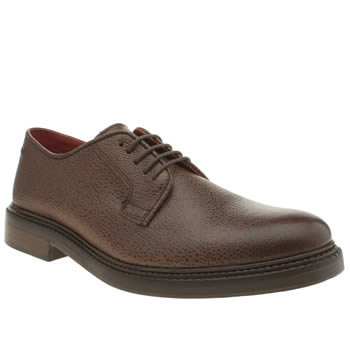 Mens Base London Dark Brown Invent Gibson Shoes