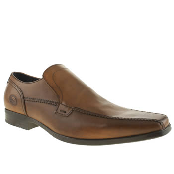 mens base london brown par tram slip shoes