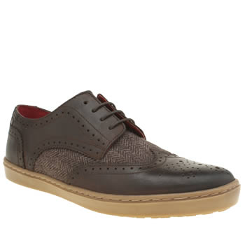 Base London Brown National Wing Cup Shoes