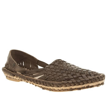 Base London Brown Aztec Weave Shoes