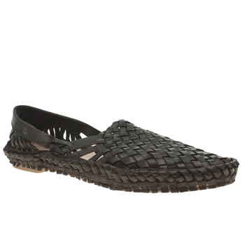 Mens Base London Black Aztec Weave Shoes