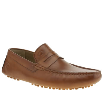 Base London Tan Morgan Driver Shoes