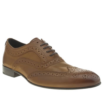 Mens Base London Tan Commerce Brogue Shoes