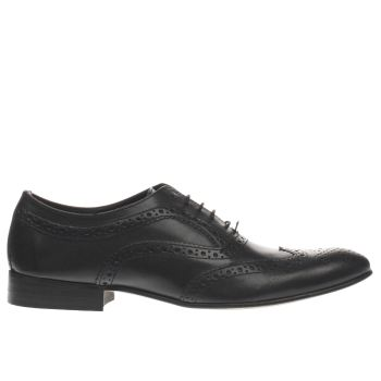 Base London Black Commerce Brogue Shoes