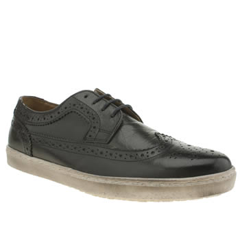 Base London Navy National Long Wing Shoes