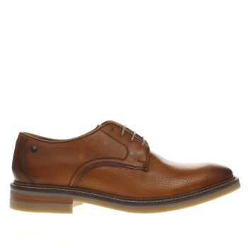Base London Tan Manor Derby Shoes