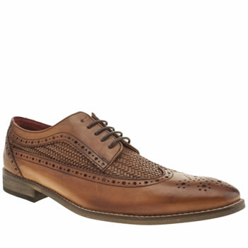 Base London Tan County Wing Gibson Mens Shoes