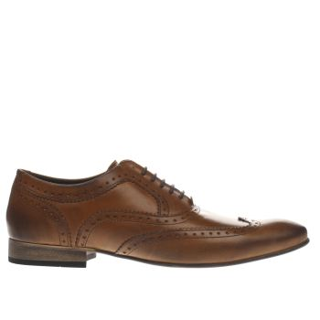 Base London Tan Spice Wing Oxford Shoes