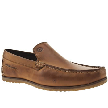 Base London Tan Call Plain Loafer Shoes