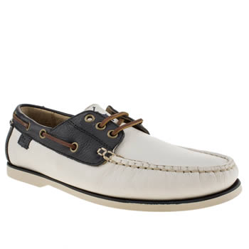 Polo Ralph Lauren White & Navy Bienne Ii Shoes