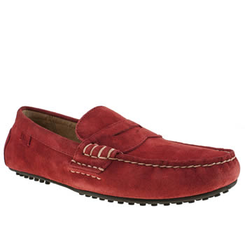 Mens Polo Ralph Lauren Red Wes Shoes