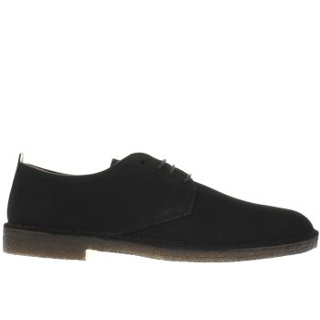 Mens Clarks Originals Black Desert London Shoes