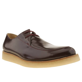 mens clarks originals burgundy desert rustler shoes