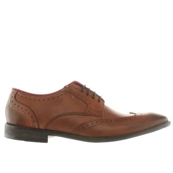Mens Base London Tan Spice Winged Gibson Shoes