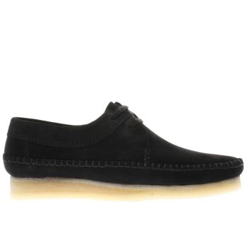 Mens Clarks Originals Black Weaver Shoes