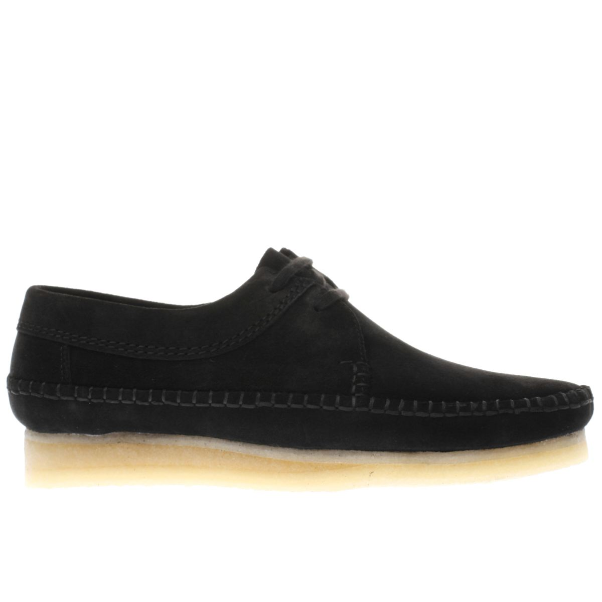 clarks originals black weaver shoes