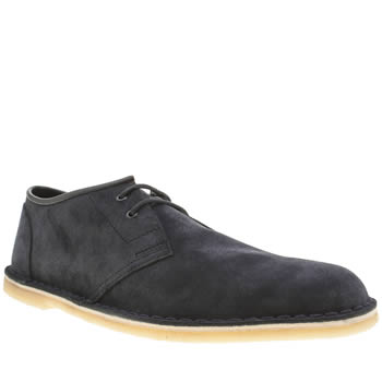 Mens Clarks Originals Navy Jink Shoes