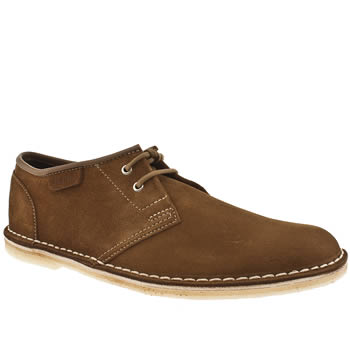 mens clarks originals brown jink shoes