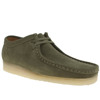Mens Clarks Originals Green Wallabee Shoes