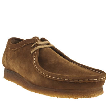 mens clarks originals tan wallabee shoes