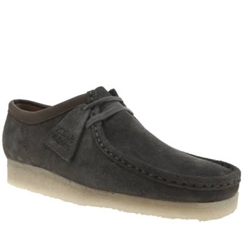 Clarks Originals Grey Wallabee Mens Shoes