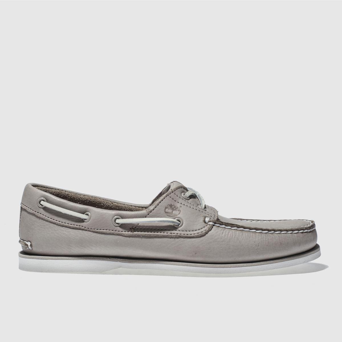 Timberland Light Grey Classic Boat 2 Eye Shoes