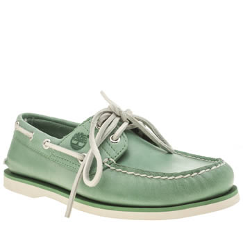 Timberland Green Classic Boat Shoes