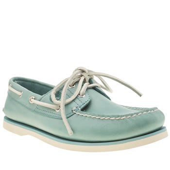 Timberland Pale Blue Classic Boat Shoes