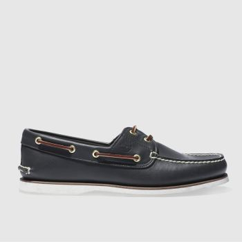 Mens Timberland Navy Classic Boat Shoes