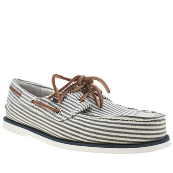 Mens Timberland Navy & White Classic Boat Shoes