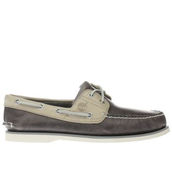 Timberland Grey Classic Boat Mens Shoes