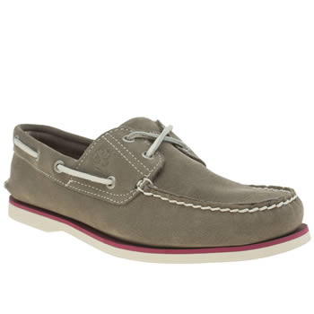 Mens Timberland Grey Classic Boat Shoes