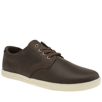 Timberland Dark Brown Newmarket Fulk Lp Oxford Shoes