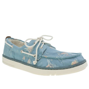 Timberland Pale Blue Hookset Handcrafted Boat Mens Shoes