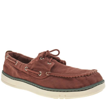 Timberland Red Hookset Handcrafted Boat Mens Shoes