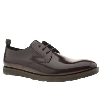 Mens Red Or Dead Burgundy Mr Finlay 3 Eye Shoes