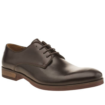 Mens Red Or Dead Dark Brown Mr Finney Gibson Shoes