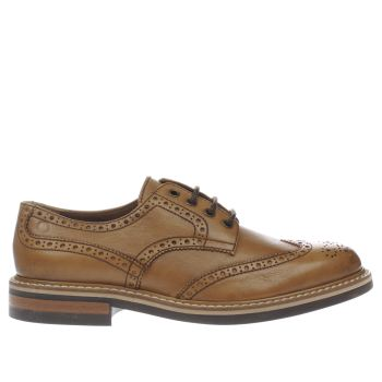 Mens Red Or Dead Tan Mr Renton Brogue Shoes