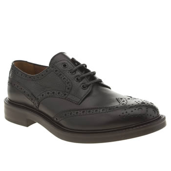 Mens Red Or Dead Black Mr Renton Brogue Shoes