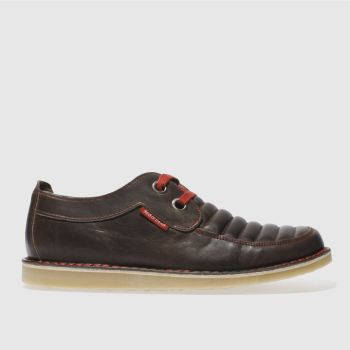 Mens Red Or Dead Grey Mr Briggs Geo Lace 2 Shoes