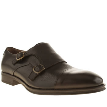 Mens Red Or Dead Dark Brown Mr Mitty Monk Shoes