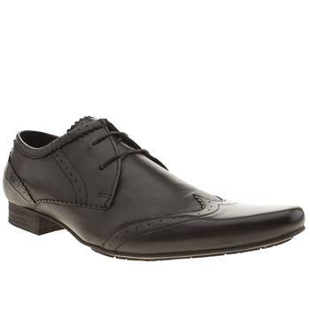 Mens H By Hudson Black Nu Swinger Wing Shoes