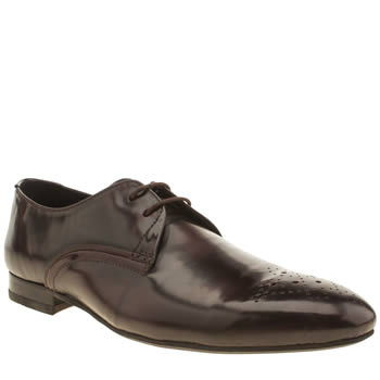Mens H By Hudson Burgundy St Paul 2 Eye Gibson Shoes